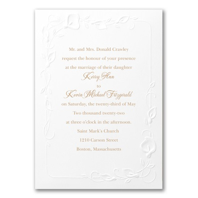 Calla Lily Wedding Invitations Calla Lilies Wedding Napkins