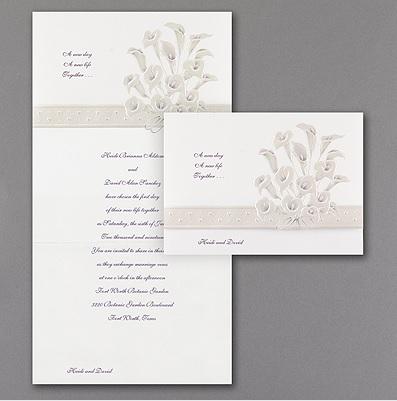 Purple Calla Lily Wedding Invitations