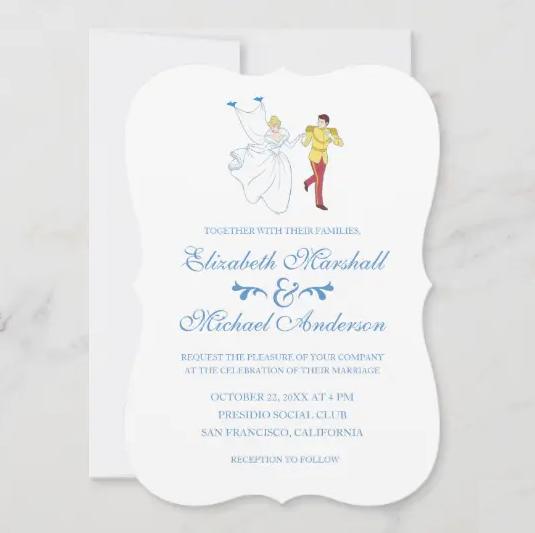 cinderella wedding invitations disney cinderella invitations