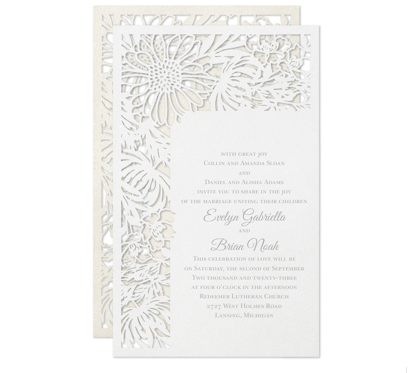 daisy wedding invitations - Daisy Wedding Invitations