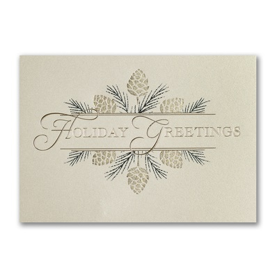 Business christmas cards personalized holiday cards for Elegant christmas card messages