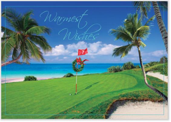 Golf Theme Christmas Cards Golf Lovers Holiday Cards - Golf christmas cards