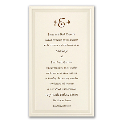 Scroll Style Wedding Invitations on Ivory Wedding Invitations   Ecru Square Invitations For Weddings