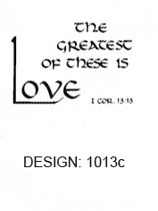 The Greatest of these is Love Napkins
