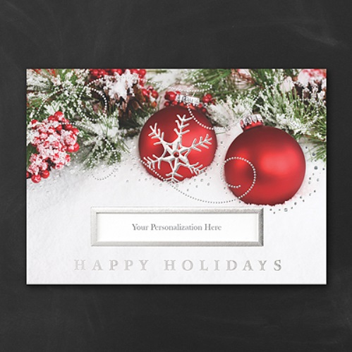 Business holiday card personalized holiday company cards for Business christmas cards personalized