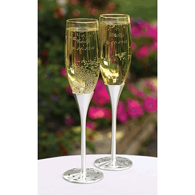 Personalized Wedding Glasses - Wedding Toasting Flutes